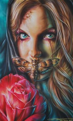 Healthy living at home sacramento california jobs opportunities Airbrush Art, Dark Fantasy Art, Dark Art, Tattoo Studio, Girl Face Tattoo, Foto Top, Arte Obscura, Tattoo Project, Polychromos