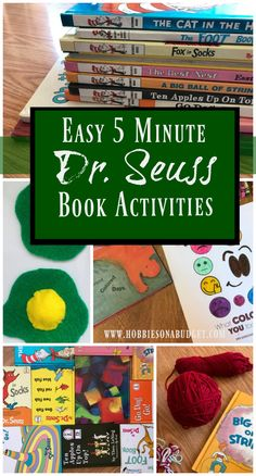 Easy 5 Minute Dr. Seuss Book Activities - Hobbies on a Budget