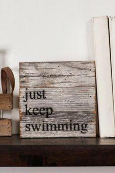 Just Keep Swimming Mini Plaque