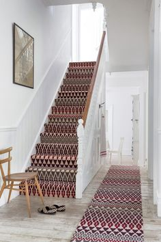 How Much Does It Cost to Carpet Stairs Traditional Staircase Also Colour Hallway Pattern Patterned Carpet Rug Runner Stair Runner Staircase Carpet Staircases Stairs Wall Art Wood Chair Wooden Floor Stairway Carpet, Carpet Stair Treads, Hallway Carpet, Carpet For Stairs, Carpet Runner On Stairs, Office Carpet, Patterned Stair Carpet, Striped Carpet Stairs, Tartan Stair Carpet