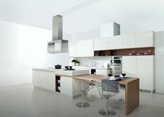 Contemporary kitchen / island / lacquered G260 TALCO BRILLO/VINO BRILLO/NOGAL SIENA GAMADECOR