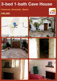 Cave House for Sale in Huescar, Granada, Spain with 3 bedrooms, 1 bathroom - A Spanish Life Murcia, Cave House, Normal House, Dining Room Fireplace, Diy Cans, Granada Spain, Alicante Spain, Summer Kitchen, Living Room Kitchen