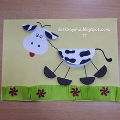 Here are the top 9 Cow Craft ideas for kids and preschoolers. Cow crafts are perfect crafts to show kids how a cow looks like. Kids Crafts, Farm Crafts, Animal Crafts For Kids, Toddler Crafts, Art For Kids, Arts And Crafts, Cow Craft, Art N Craft, Paper Plate Crafts