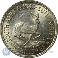 Random Date South Africa 5 Shilling Silver Coins oz Of Silver. Issued To Celebrate George VI Visit to South Africa in 1948 Rare Coins Worth Money, Valuable Coins, Foreign Coins, Coin Worth, Gold And Silver Coins, World Coins, African History, Stamp Collecting, South Africa