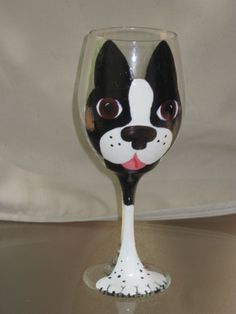 Dog faces - glass painting