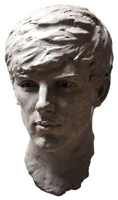 Clay Portrait Sculptures / Commission or Bespoke or Customised sculpture by sculptor Lancelot Little titled: 'Elliot (bronze Portrait Head Bust Commission/Custom sculptures)'
