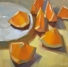 Carol Marine's Painting a Day: Sliced Not Diced