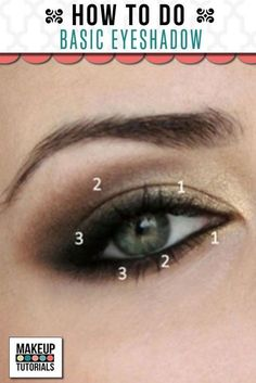 Makeup Ideas: Basic Eyeshadow. Step by step tutorial on how to create smokey eyes like a pro. Beauty Tips and Tricks. | Makeup Tutorials http://makeuptutorials.com/basic-eyeshadow-tutorial-makeup-tutorial/