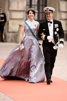 Crown Prince Frederik of Denmark and Crown Princess Mary Of Denmark attend the royal wedding of Prince Carl Philip of Sweden and Sofia Hellqvist at The Royal Palace on June 13, 2015 in Stockholm, Sweden.
