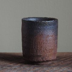 Wood Fired Yunomi Tea Cup Local Clay Shale by MitchIburgCeramics