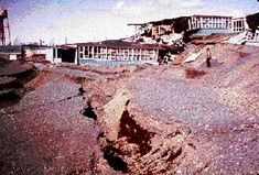 US Army Corp of engineers helped rebuild Alaska areas destroyed by the quake.
