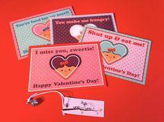 Set di 4 cartoline  HAPPY VALENTINE'S DAY di zolushka65 su Etsy