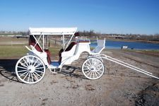 NO RESERVE horse drawn vis-a-vis wedding carriage by Robert Carriages + brakes