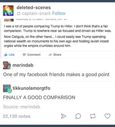 Okay, but has anyone considered Trump being a combination of people though???