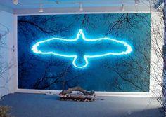 'Blue Eagle' Neon, 2005 by artist Michael Rocco Pinciotti