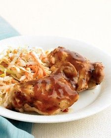 Easy Martha Stuart microwave barbeque chicken...easy and yummy
