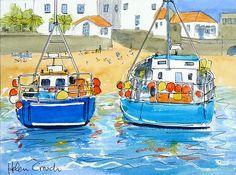 St. Ives, Cornwall Watercolour & Ink Original | eBay