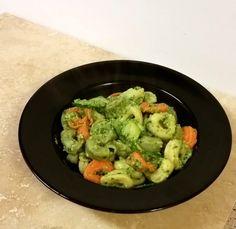 Skinny Broccoli Pesto and Tortellini by A Hole Lotta Cheese