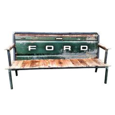 Blue Collar Bench Green Ford by Yesterday Reclaimed   Fab.com