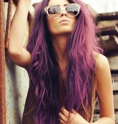 Purple hair.