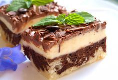 Quark cake with coffee fragrance * Simple recipes No Cook Desserts, Sweet Desserts, Sweet Recipes, Dessert Recipes, Simple Recipes, Nutella Muffins, Czech Recipes, Cake Bars, Recipes From Heaven