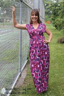 sewing a beginners easy maxi dress for full bust ladies, you know who you are!
