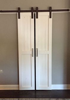 "I wanted to replace our bi-fold pantry door with something more ""country"" looking since our . how to build a pantry barn door closet doors shelving ideas . Tags : - June 27 2019 at Barn Door Pantry, Barn Door Closet, Bathroom Barn Door, Bathroom Closet, Barn Doors For Closets, Bi Fold Closet Doors, Master Bathroom, Sliding Bathroom Doors, Kitchen Pantry Doors"