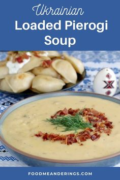 5 reviews · 35 minutes · Serves 6 · This Loaded Pierogi Soup is a delicious and healthy Ukrainian soup with all the flavors of loaded pierogies! Bacon, potatoes, cheddar cheese, cabbage, fried onions and sour cream are combined to… More Slow Cooker Recipes, Crockpot Recipes, Soup Recipes, Healthy Recipes, Cook Bacon In Microwave, Ukrainian Recipes