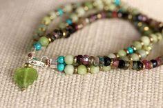 layered gemstone bracelet / multi strand /handmade jewelry by girlthree on Etsy, $79.00