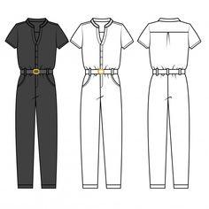 Fashion Illustration Sketches, Fashion Sketches, Fashion Flats, Denim Fashion, Clothing Templates, Fashion Drawing Dresses, Flat Sketches, Flats Outfit, Fashion Portfolio