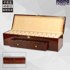 299.00$  Buy now - http://aliu7e.worldwells.pw/go.php?t=32606905669 - Wooden watch box with Piano finish 40 Watches storage box Luxury Wooden Watch packing box display High quality watch case 299.00$