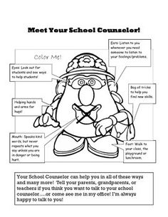 This is a handout to use with the Potato Parts Meet the Counselor Lesson (separate download).
