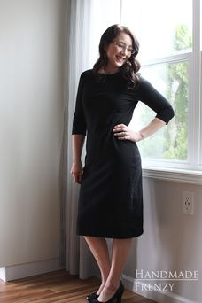 Every girl needs a Little Black Dress hanging in her closet. Enter my favorite, versatile dress pattern. The Panama Tee Dress . Tee Dress, Every Girl, Lbd, Dress Making, Panama, Sewing Patterns, Dresses For Work, Tees, How To Make