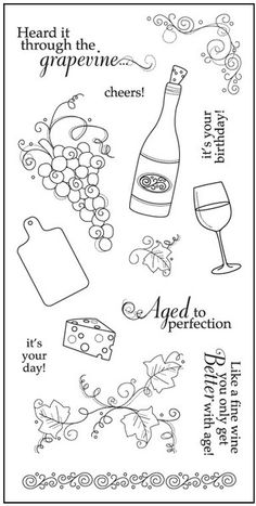 """Aged to Perfection - 4"""" x 8"""" Clear Stamps"""