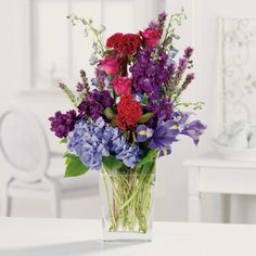 Cool & Breezy | B/A Florist  East Lansing | Michigan Love these deep purples and reds!