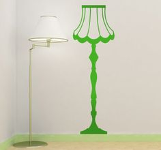 Amazing wall sticker, imagine on the wall of your living room! #lamp #wallstickers #livingroom