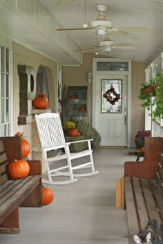 Lovely fall porch