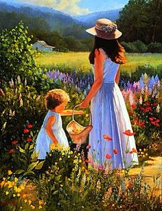 ART~ Flower Picking In The Meadow.
