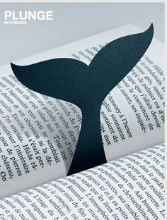 Cute bookmark for when you dive into your next good book! Gia's Notes: May 2015 update ... I just made several using black art foam to include with children's books given as gifts. The art foam is better choice over paper or felt.
