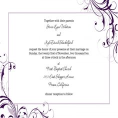 "Invitation Template Word Entrancing Printable Wedding Invitation Template ""elegance"" Royal Blue  Word ."