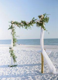Beach wedding arch b