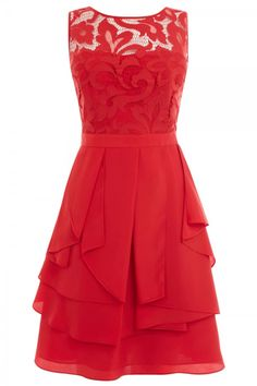 Coast Red Lace Dress, £135