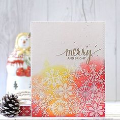 Merry and Bright! @mftstamps October Release!! #mftstamps #mft #mftDienamics #snowflake #christmas #greetings #papercrafts #cardmaking #stamping #크리스마스 #핸드메이드 #카드 #스탬핑
