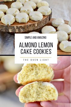 Simple and Sweet Almond Lemon Cake Cookies | Comes together in one bowl! Perfect cookie recipe for Spring!