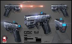 Meta Pulse Pistol, Kris Thaler on ArtStation at https://www.artstation.com/artwork/meta-pulse-pistol