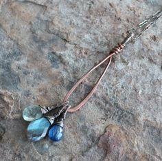 LABRADORITE necklace Copper jewelry Copper by angryhairjewelry