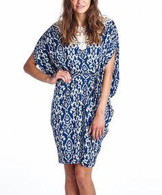 Another great find on #zulily! Blue Ikat Crochet Dress #zulilyfinds