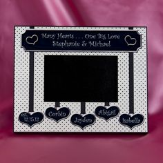 Many Hearts One Big Love Blended Family Second Wedding Photo Frame