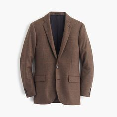 $328, Brown Wool Blazer: Ludlow Sportcoat In Windowpane Italian Wool. Sold by J.Crew. Click for more info: https://lookastic.com/men/shop_items/335016/redirect