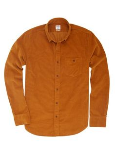 Camptown Cord Slim Shirt - Brown